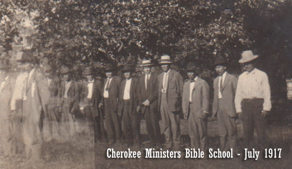 Cherokee Ministers Bible School July 1917